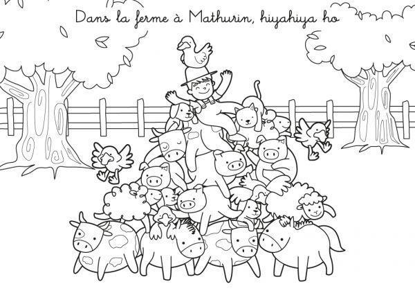 La ferme de mathurin - Coloriages animaux de la ferme ...