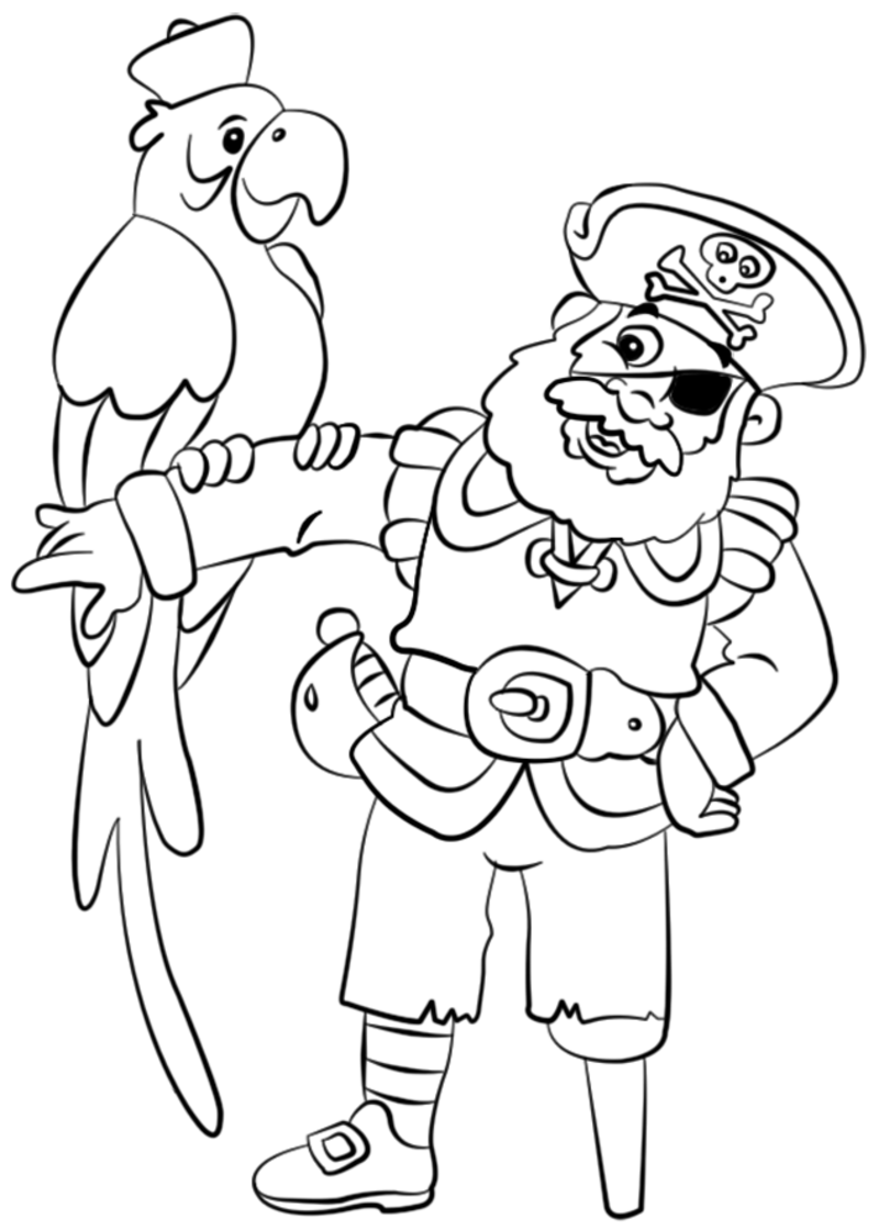 Coloriage pirates - Dessins de pirates ...