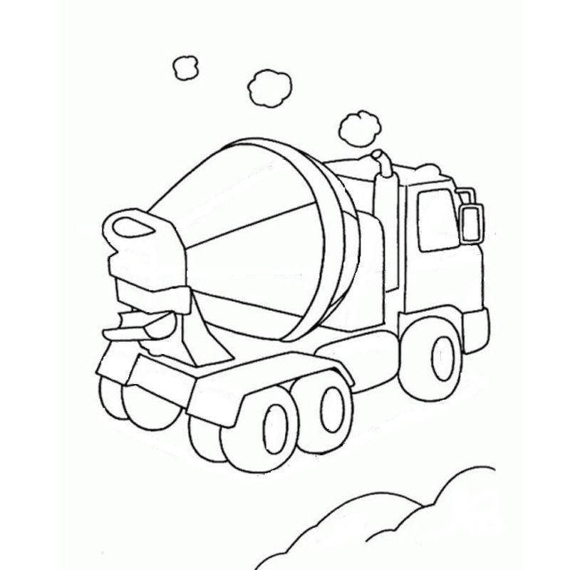 Engin de chantier ou de construction engin a colorier pour les petits - Coloriage de chantier ...
