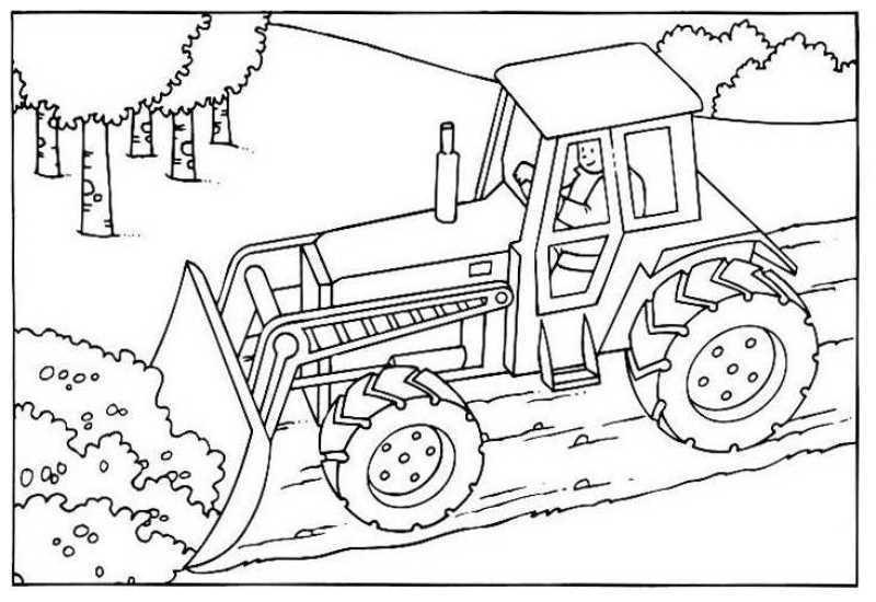 Coloriage chantier et construction - Dessin de tracteur a colorier ...