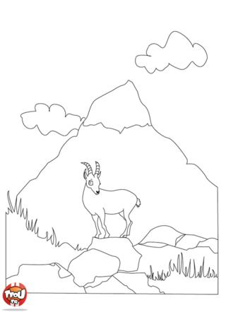Coloriage la montagne - Dessin de montagne ...