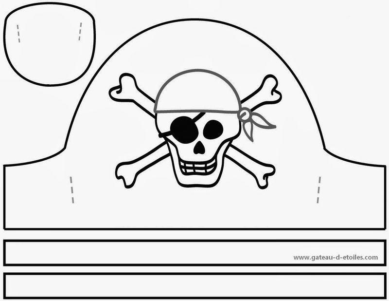 Patron chapeau pirate tt57 jornalagora - Fabriquer un chapeau de pirate ...