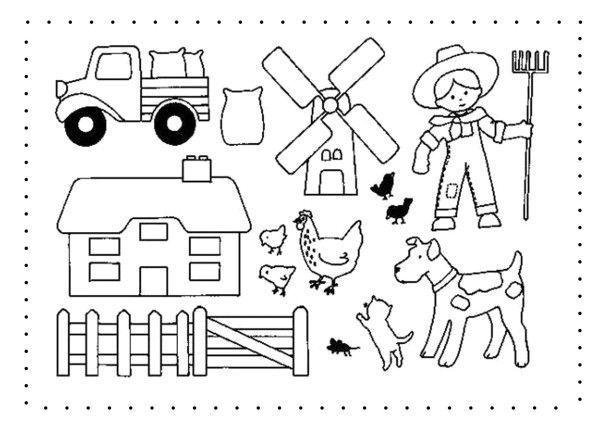 Coloriage de la ferme page 2 - Dessin d une ferme ...