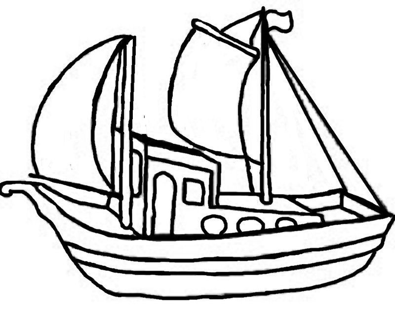 Activite pour gommette page 2 - Coloriage bateau a imprimer ...