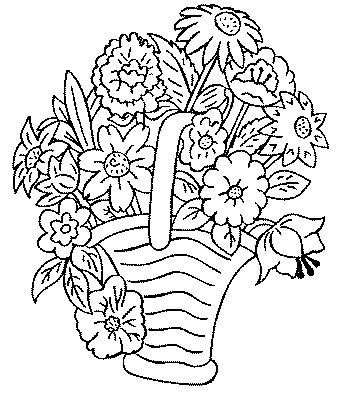coloriage bouquet fleurjpg