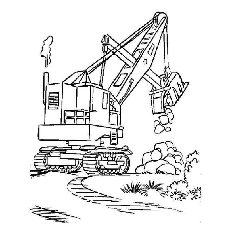 Chantier et construction - Coloriage camion ...