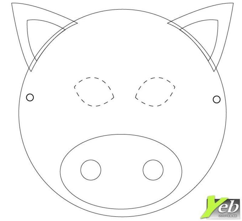 Les masques - Photo de cochon a imprimer ...