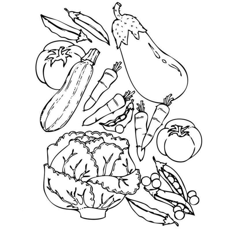 Coloriage aliments - Dessin de legumes ...