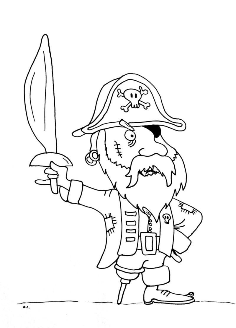 Coloriage pirates - Tete de pirate dessin ...