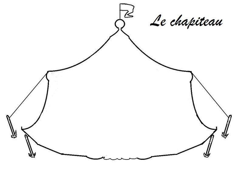 Silhouettes et ombre choinoises le cirque silhouette de - Coloriage chapiteau ...
