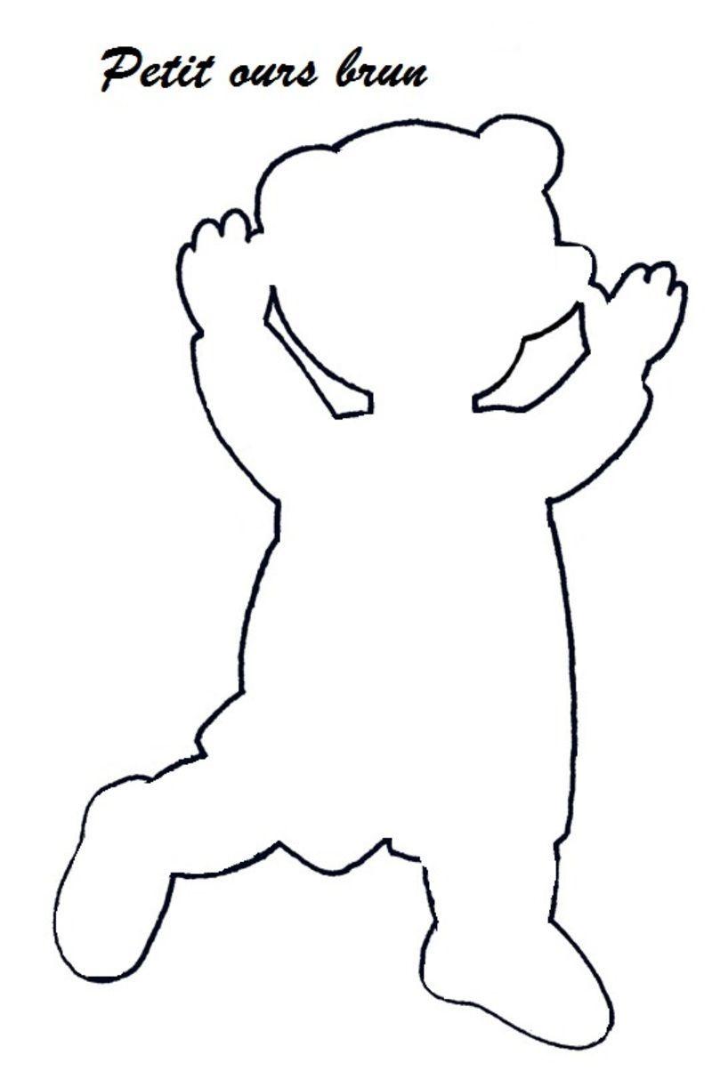 Petit ours brun les silhouettes et ombre chinoise - Petit ours dessin anime ...
