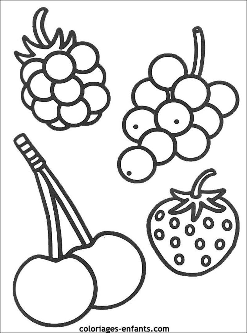Coloriage les fruits - Dessiner un fruit ...