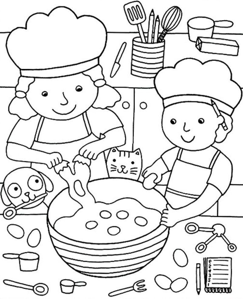 Chandeleur coloriages - Coloriage cuisine ...