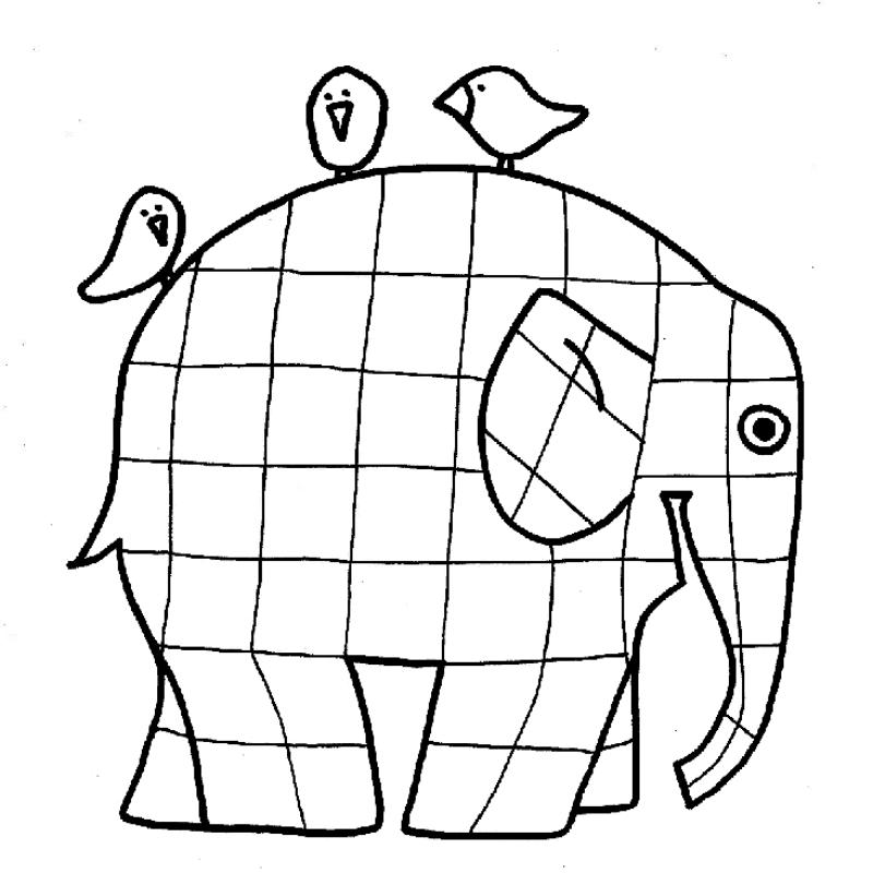 Coloriage Elmer Maternelle.Coloriage Elmer Page 3