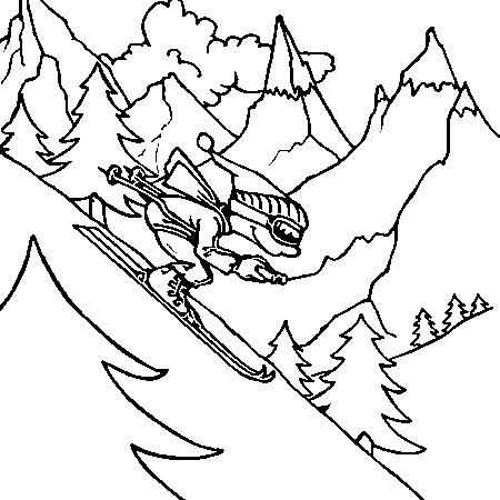 Coloriage la montagne page 2 - Dessin de chalet de montagne ...