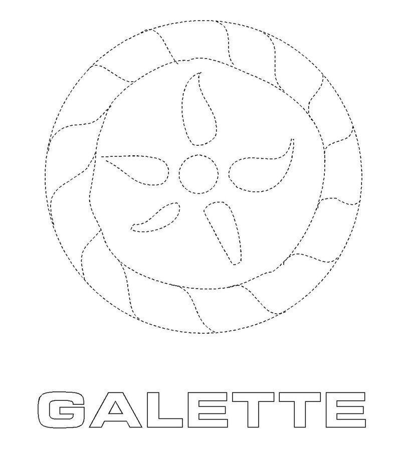 Epiphanie coloriage pour activite page 2 - Coloriage galette ...
