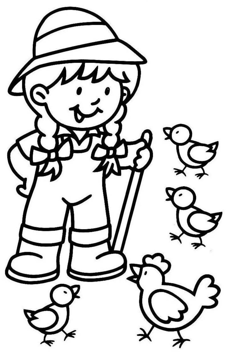 Fermier - Coloriage de fermier ...