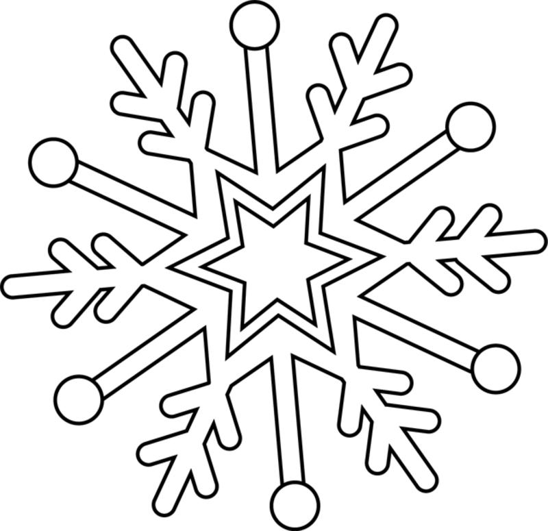 Coloriage de noel page 2 - Dessin flocon de neige simple ...