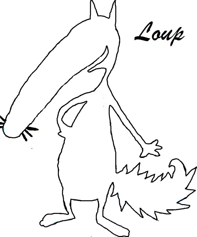 Coloriage cont loup et p tit loup page 4 - Dessiner un loup facilement maternelle ...