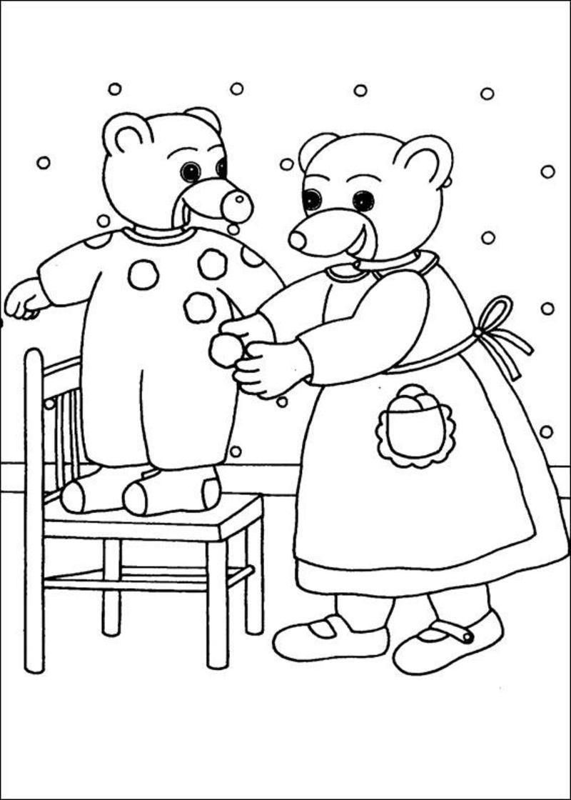 Coloriage petit ours brun page 4 - Coloriage de maman ...