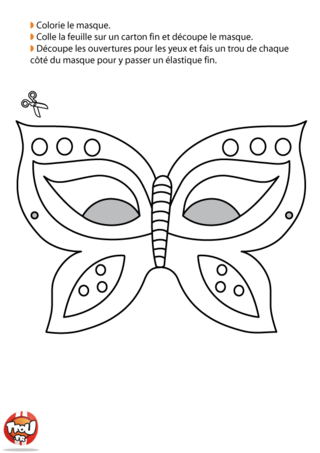Les masques page 2 - Masque papillon carnaval ...