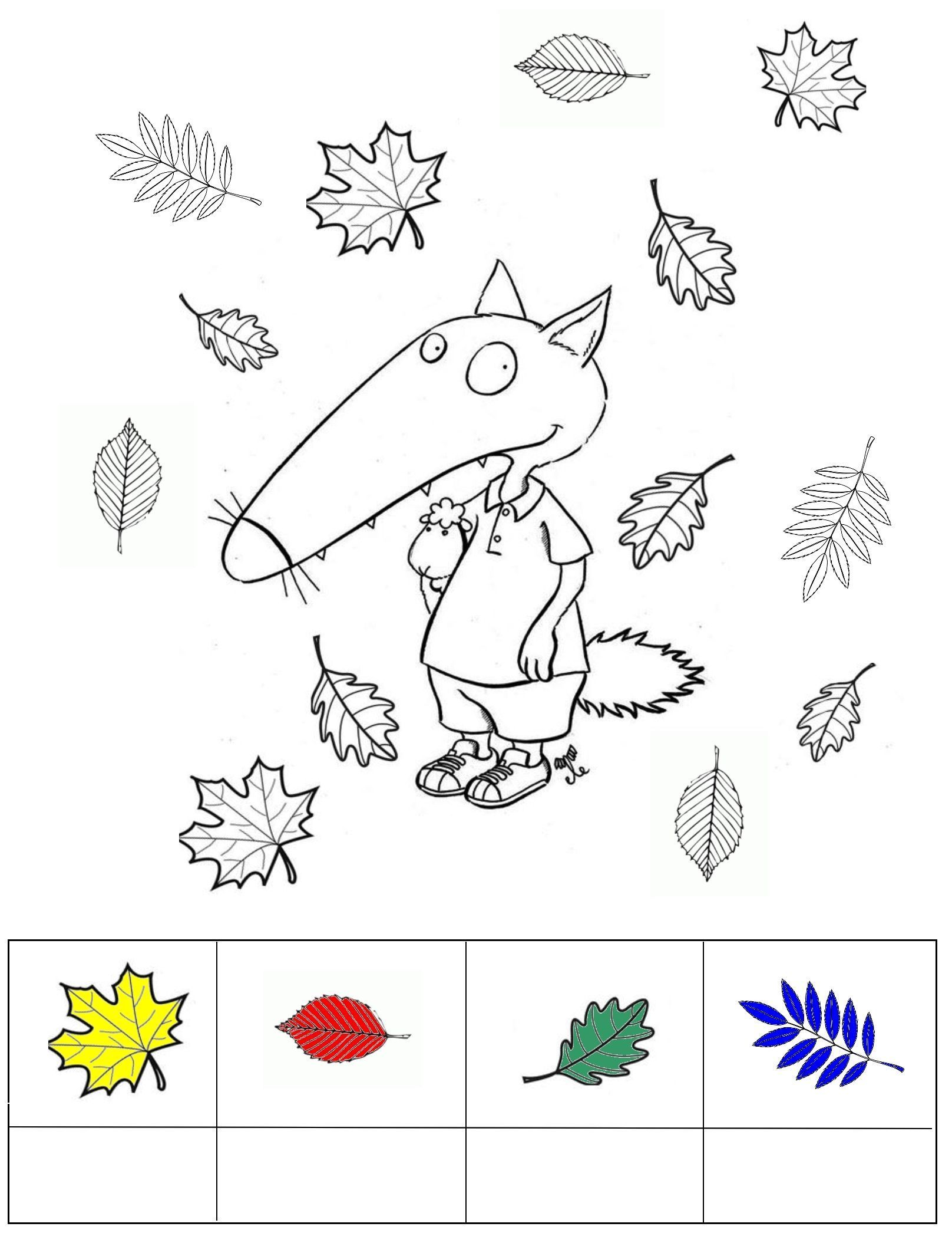 Coloriage cont loup et p tit loup page 5 - Coloriages petite section ...