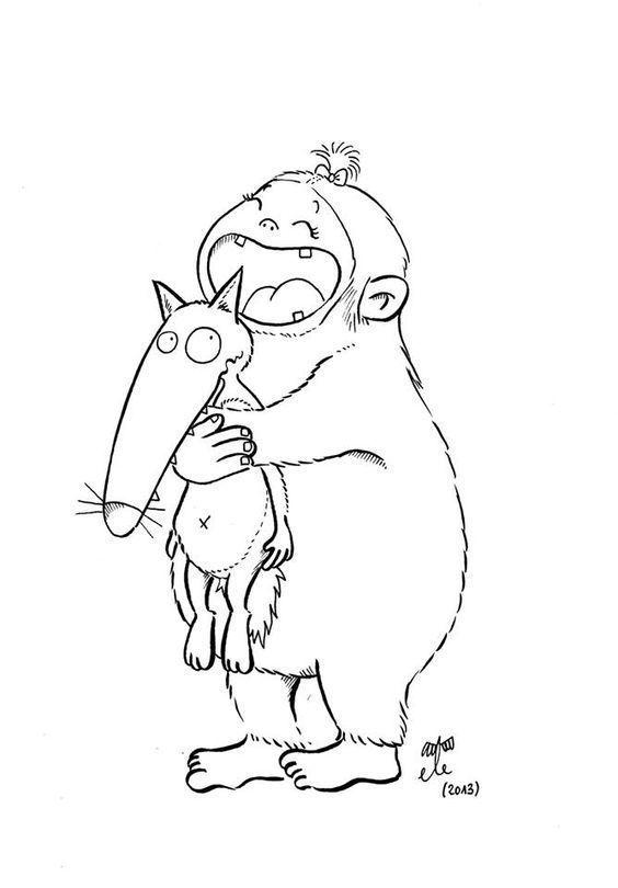 Coloriage cont loup et p tit loup page 6 - Petit loup dessin ...