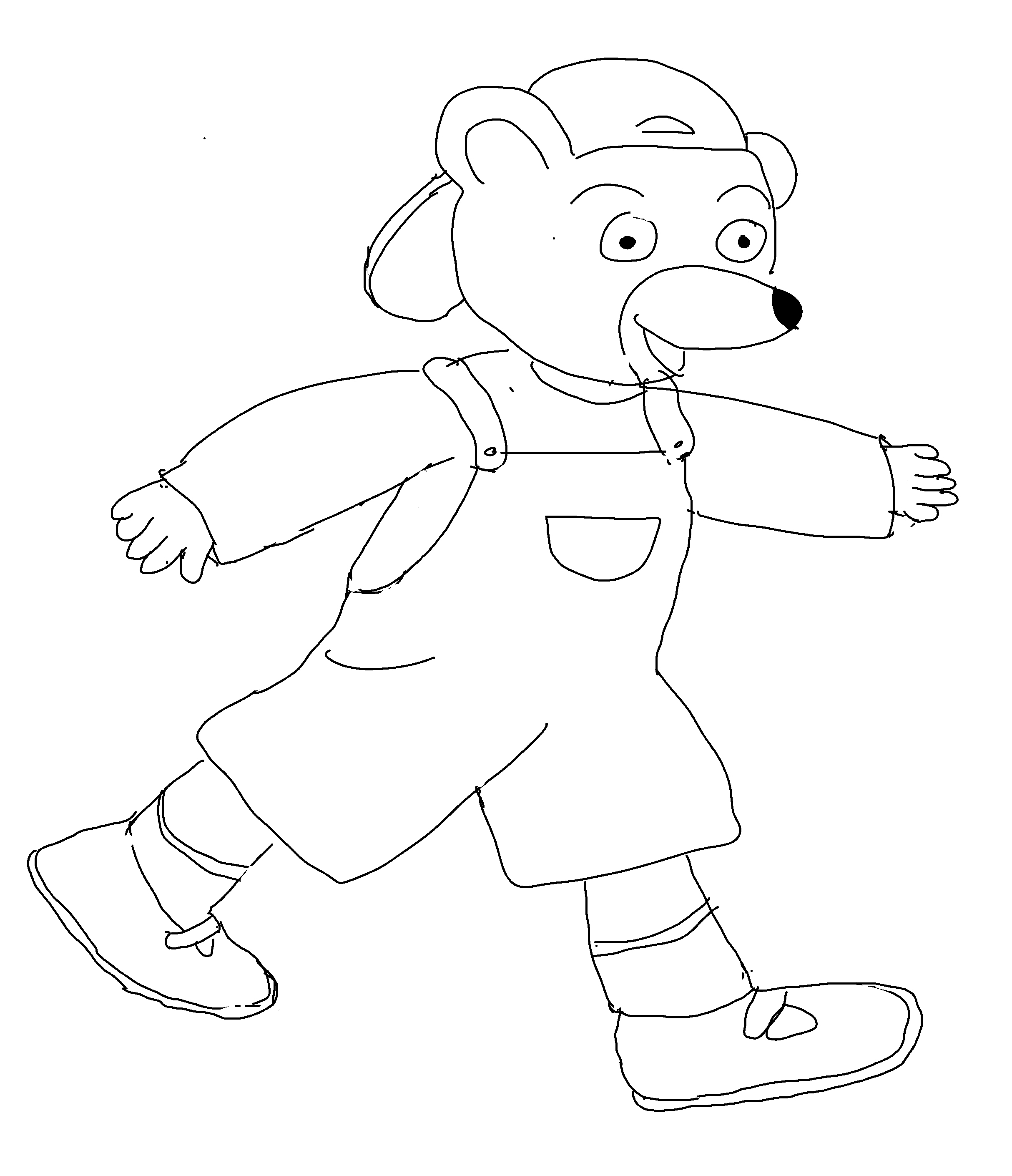 coloriage petit ours brun - Page 4