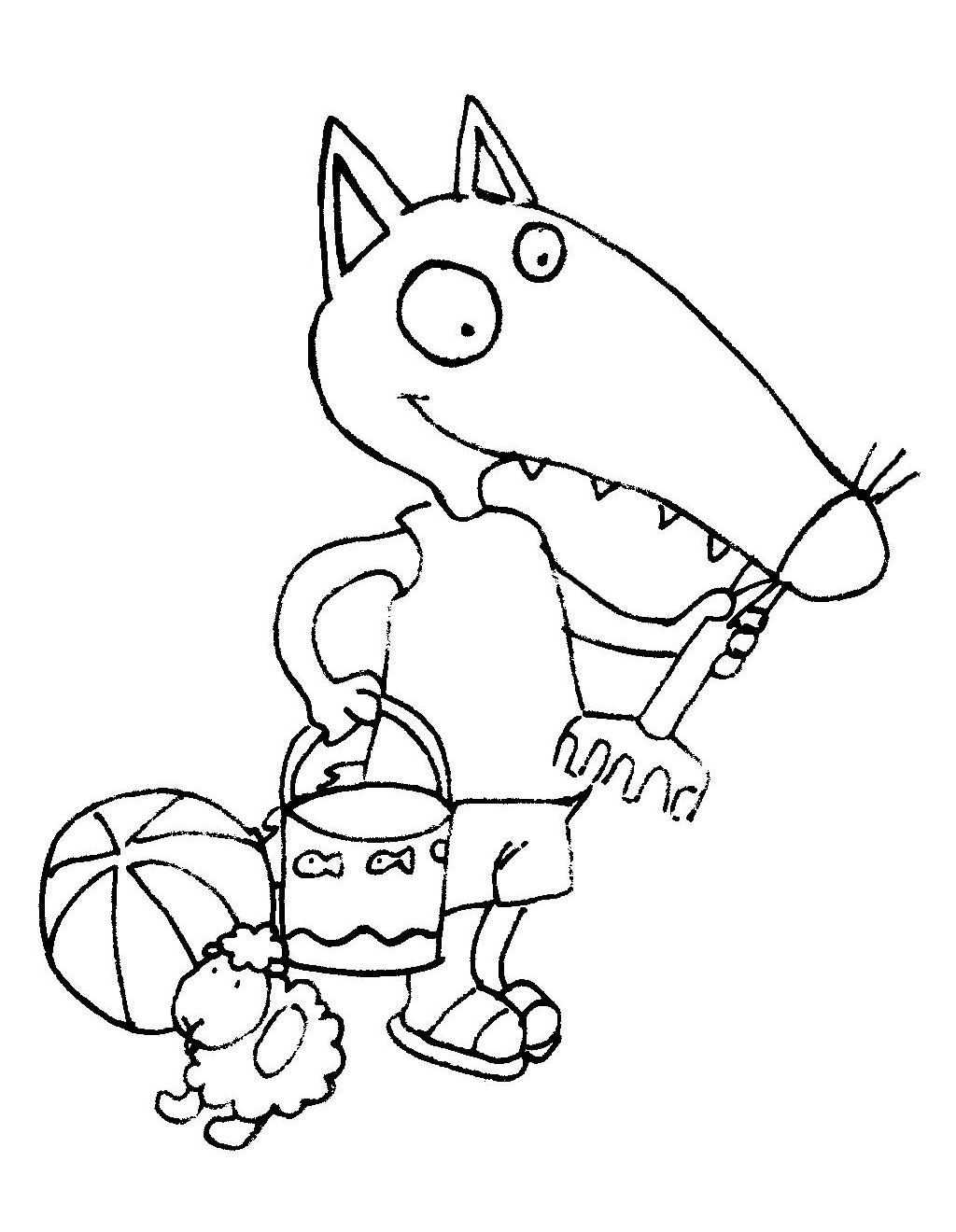 Coloriage ete - Petit loup dessin ...