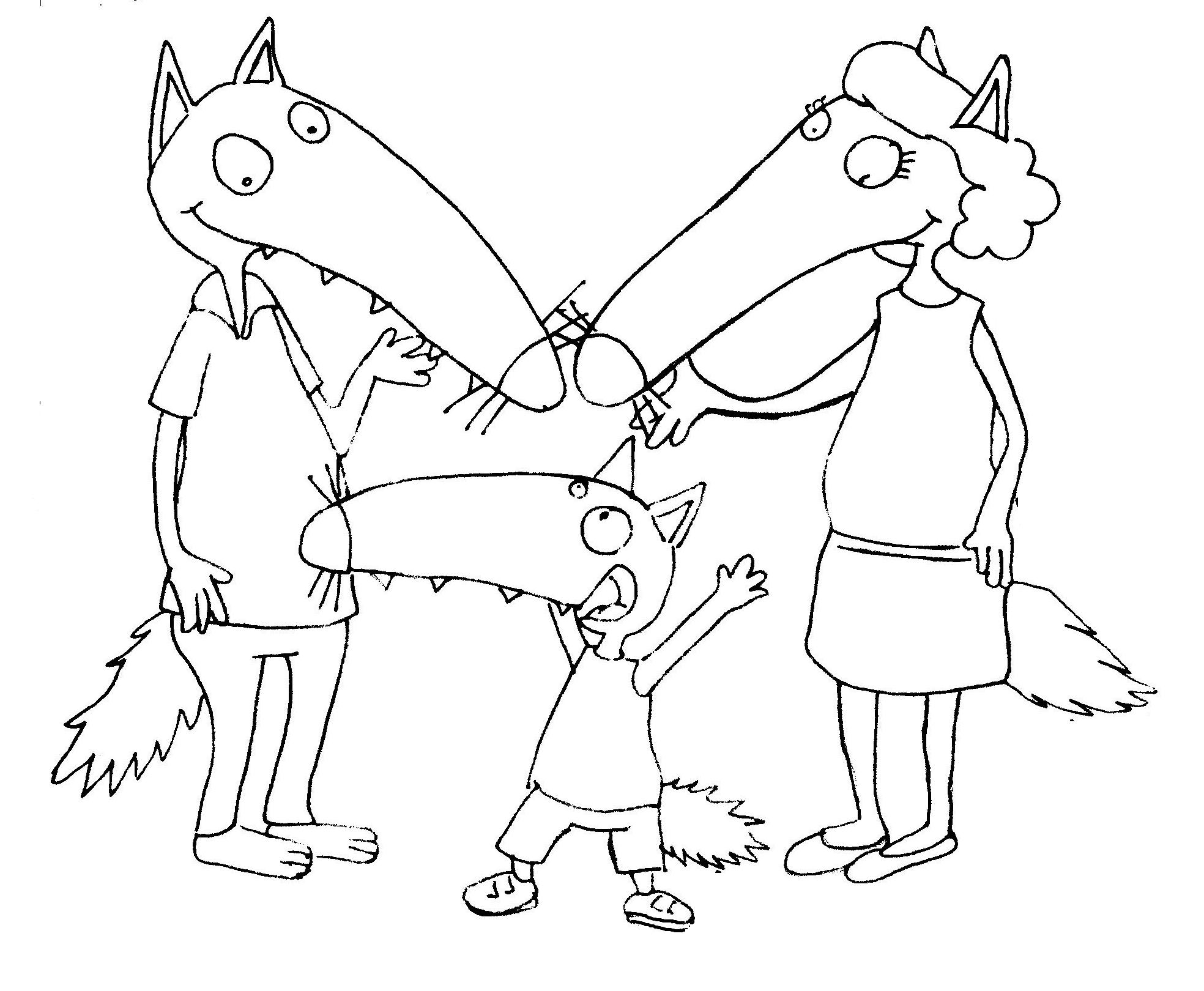 Nounou du v ron page 5 - Image de loup a imprimer ...