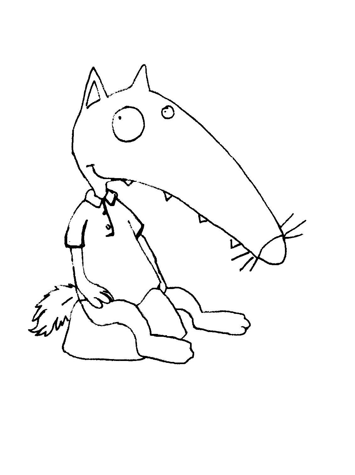 Coloriage cont loup et p tit loup - Petit loup dessin ...