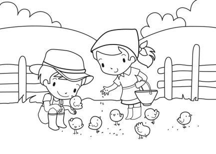 Coloriage de la ferme page 2 - Dessin de ferme ...