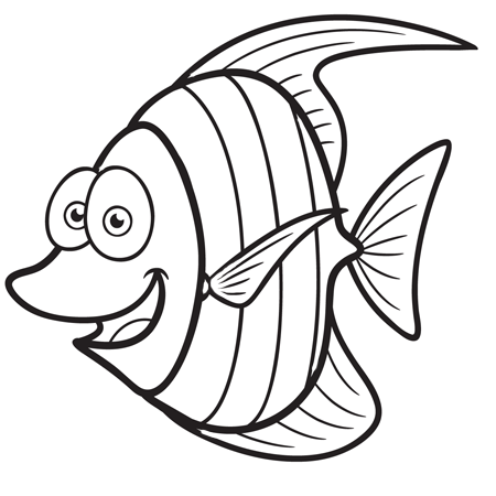Coloriage poisson - Dessin poisson ...