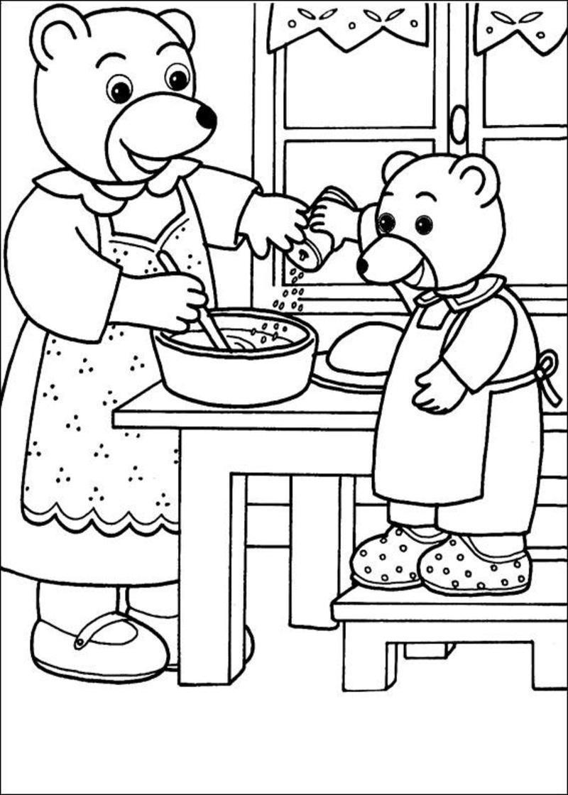 Coloriage petit ours brun page 2 - Coloriage de ours ...