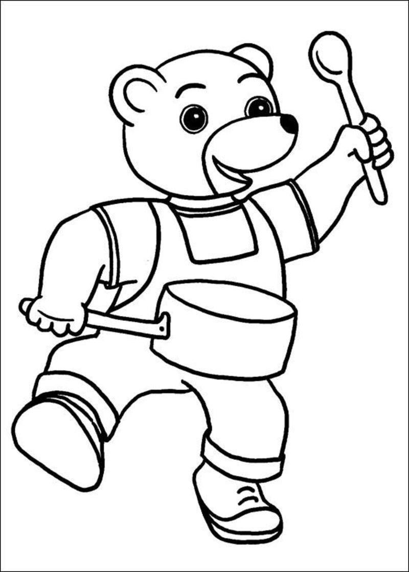 Coloriage petit ours brun - Petit ours brun a l ecole ...