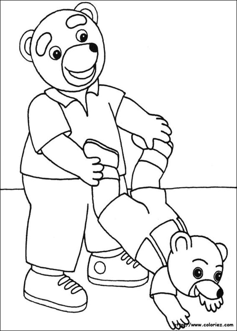 Coloriage petit ours brun - Dessin petit ours ...