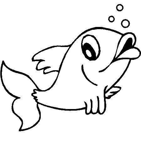 Coloriage poisson - Poisson rouge rigolo ...