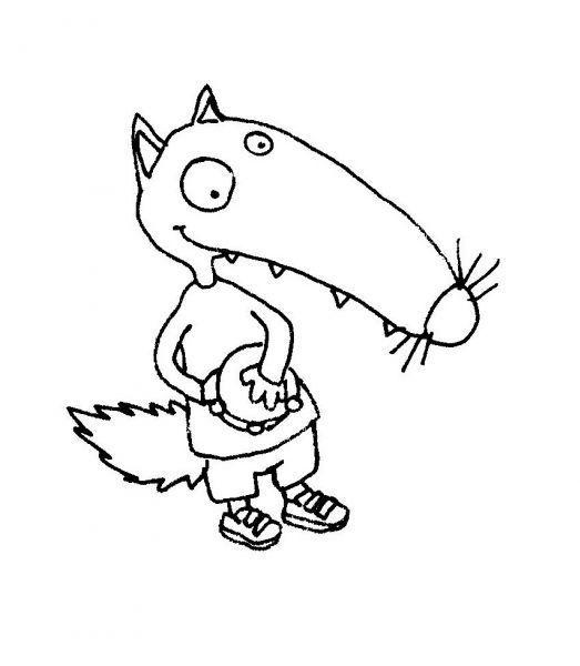 Le coloriage de loup t - Dessin du loup ...