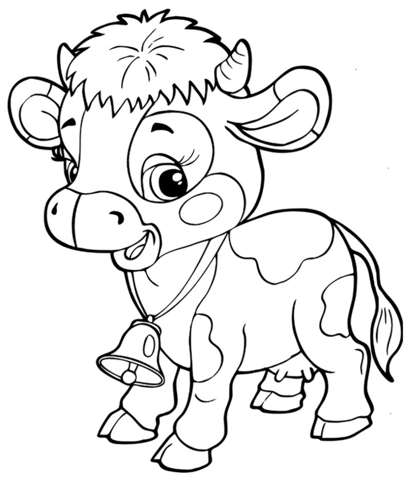 Coloriage de la ferme page 3 - Vache dessin facile ...